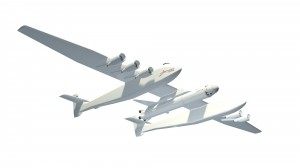 Stratolaunch aircraft and rocket