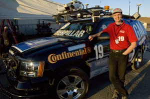 Continental engineer Michael Darms with Carnegie Mellon's autonomous car, Boss