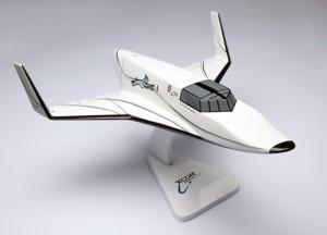 Model of XCOR's Lynx spaceship