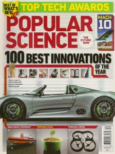 Popular Science Best of What's New issue 2010