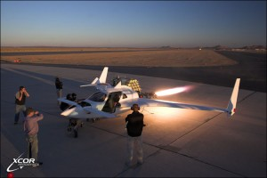 XCOR Aerospace test burn on prototype rocket plane