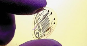 Contact lens with embedded electronics