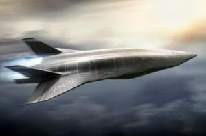 Scramjet-powered hypersonic aircraft artwork by Nick Kaloterakis