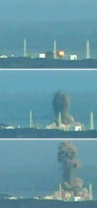 Explosion following cooling system failure at Fukushima Daiichi nuclear power plant