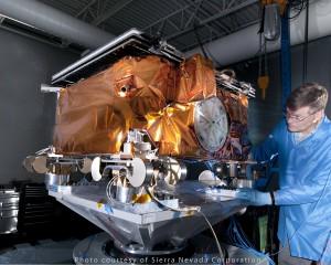 Spacecraft undergoing testing at Sierra Nevada Corporation