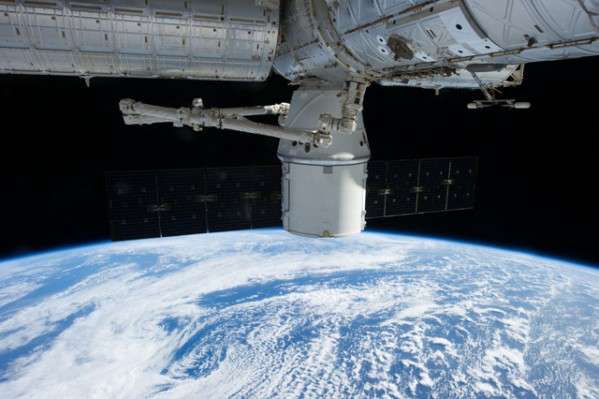 SpaceX Dragon berthed to ISS on the CRS-2 mission