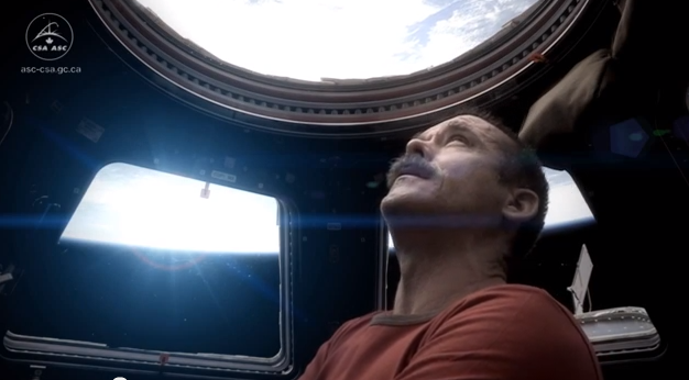 Chris Hadfield in space