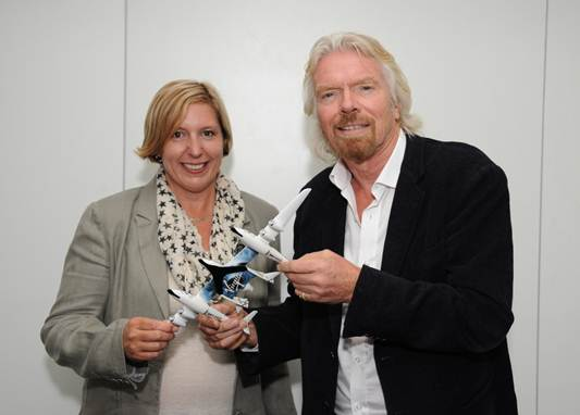 Marsha Waters and Richard Branson