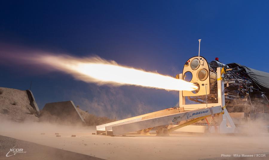 XCOR engine firing